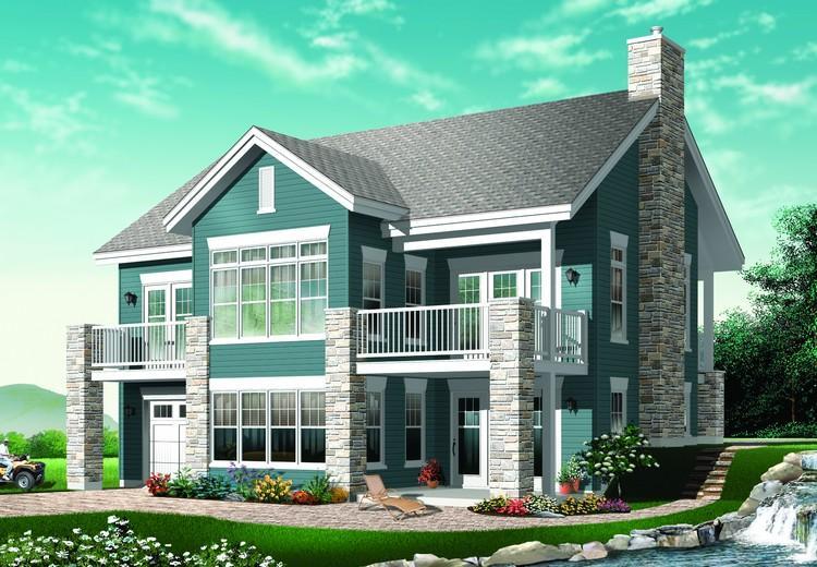Planos de casa estilo country de 199 metros cuadrados
