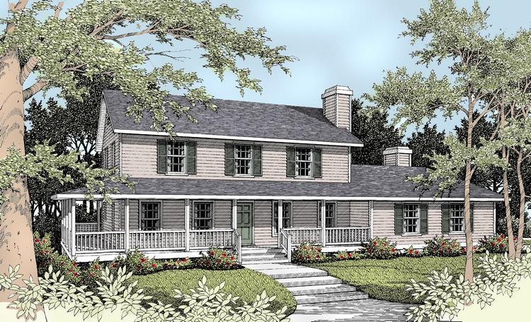 Planos de casa estilo country de 237 metros cuadrados
