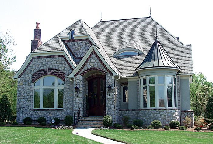 Planos de casa estilo Country de 283 m²