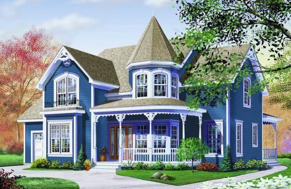 Casa completa en dibujo