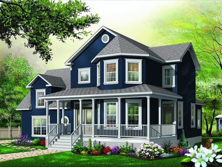 Planos de casa estilo country de 223 metros cuadrados