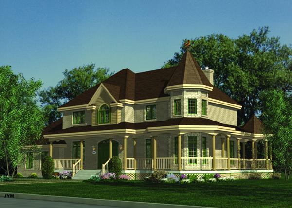 Planos de vivienda estilo country de 271 metros cuadrados