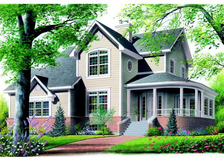Planos de casa estilo country de 195 metros cuadrados