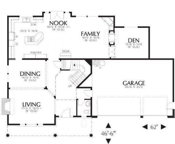 Primera planta de la casa