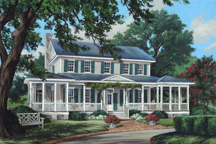 Planos de casa estilo country de 292 metros cuadrados