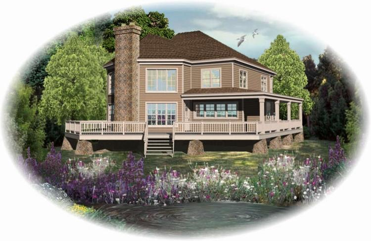 Planos de casa estilo country de 296 metros cuadrados