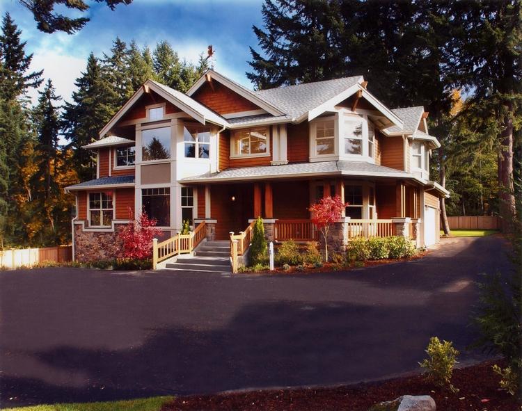 Planos de casa estilo country de 290 metros cuadrados