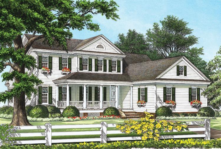 Planos de casa estilo country de 222 metros cuadrados