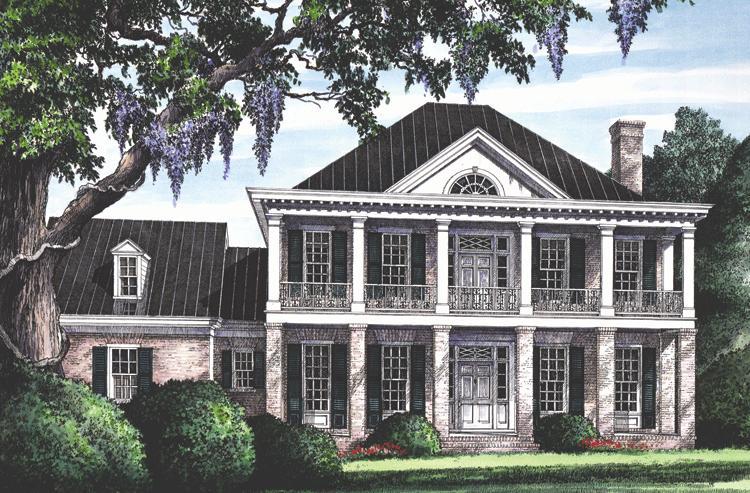 Planos de casa estilo country de 274 metros cuadrados