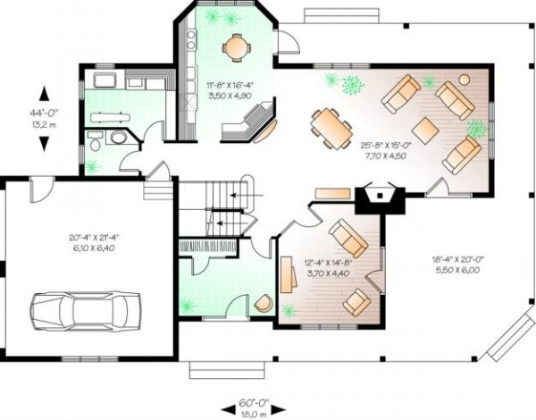 Primer plano de la casa