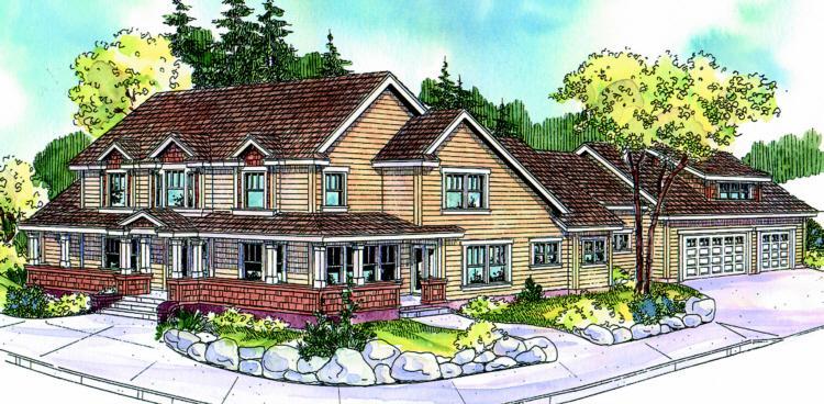 Planos de casa estilo country de 313 metros cuadrados