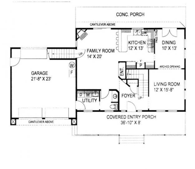 Planos de casa estilo country de 191 metros cuadrados