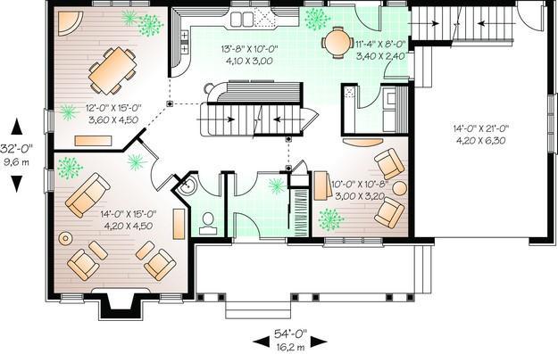 Planos de vivienda estilo country de 189 metros cuadrados