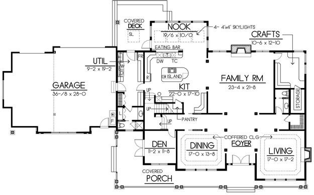 Planos de casa estilo country de 497 metros cuadrados