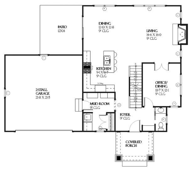Planos de casa estilo country de 180 metros cuadrados
