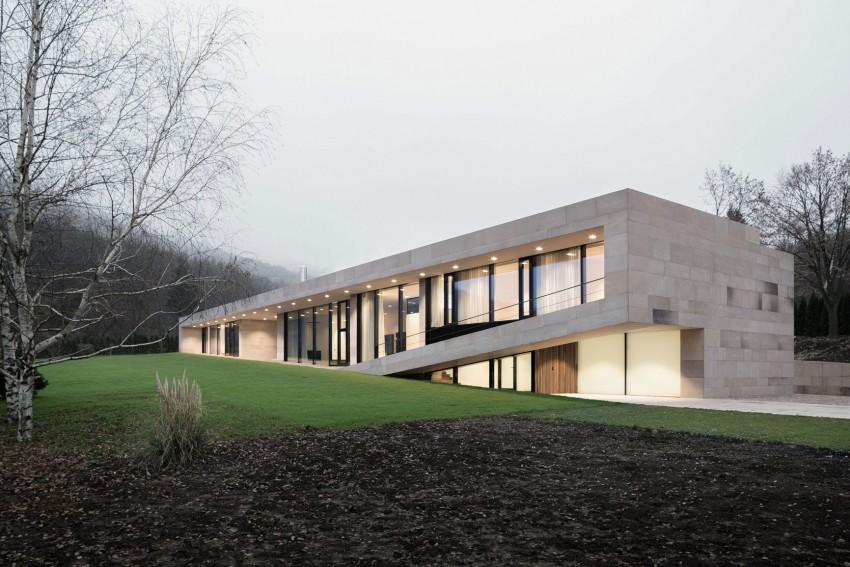 Planos de viviendas estilo moderno con una fachada impresionante