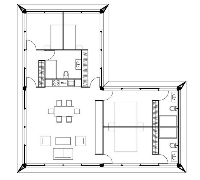 Pequeña casa ampliada con métodos prefabricados, les enseñamos su ...