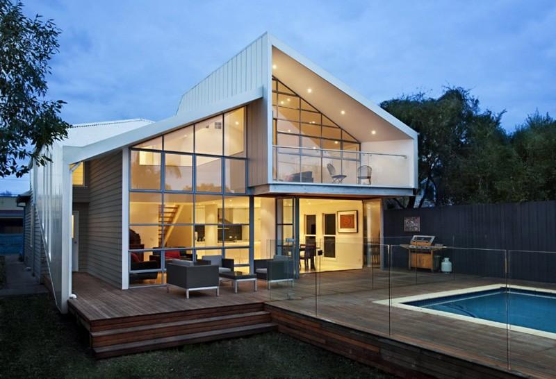 Casa Híbrida mostramos como mediante una renovación se convierte en una moderna vivienda de dos pisos 1