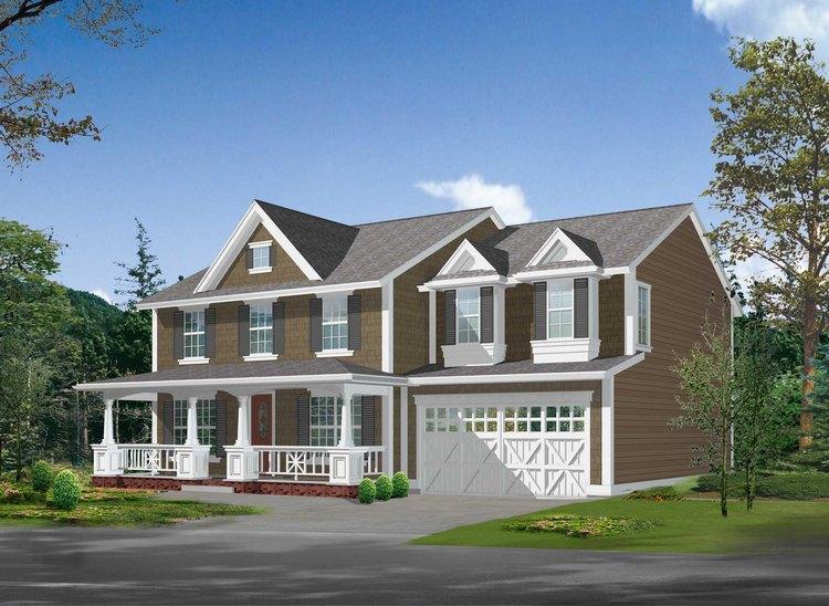 Planos de vivienda estilo country de 308 metros cuadrados