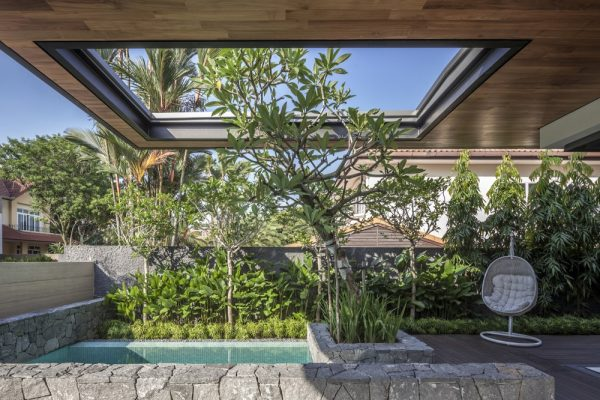 Un jardín muy amplio