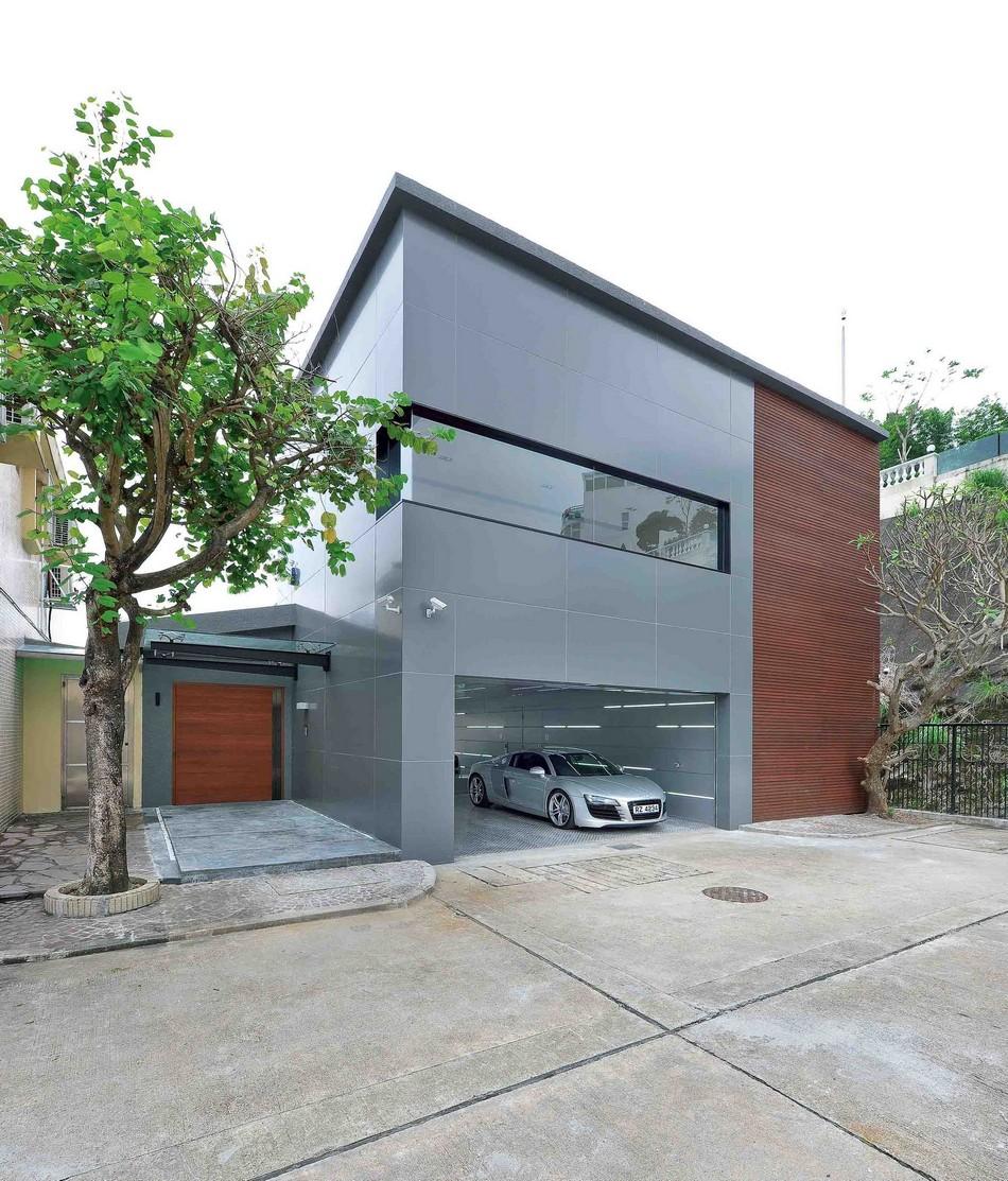 Diseño de casa sostenible con tecnología moderna en Hong Kong
