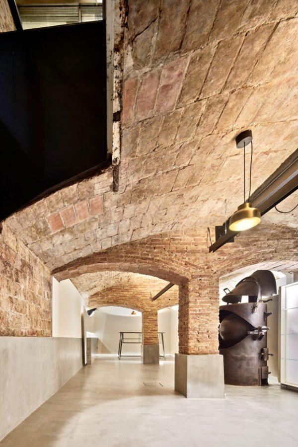 Diseño en el sótano antiguo