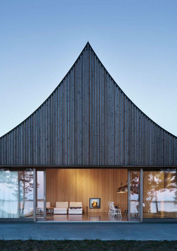 Diseño con silueta de casa de campaña