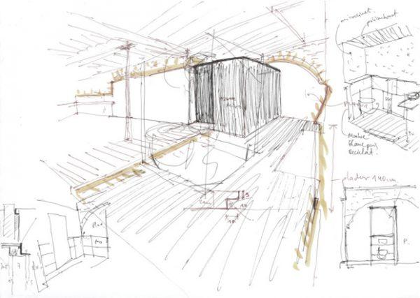 Segundo plano del edificio