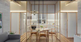 Particiones de vidrio Jazz Up Reformado mediante un apartamento en Bilbao España