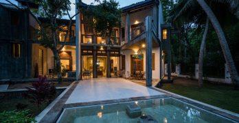 Casa de playa de estilo vernáculo en Sri Lanka bonita y especial