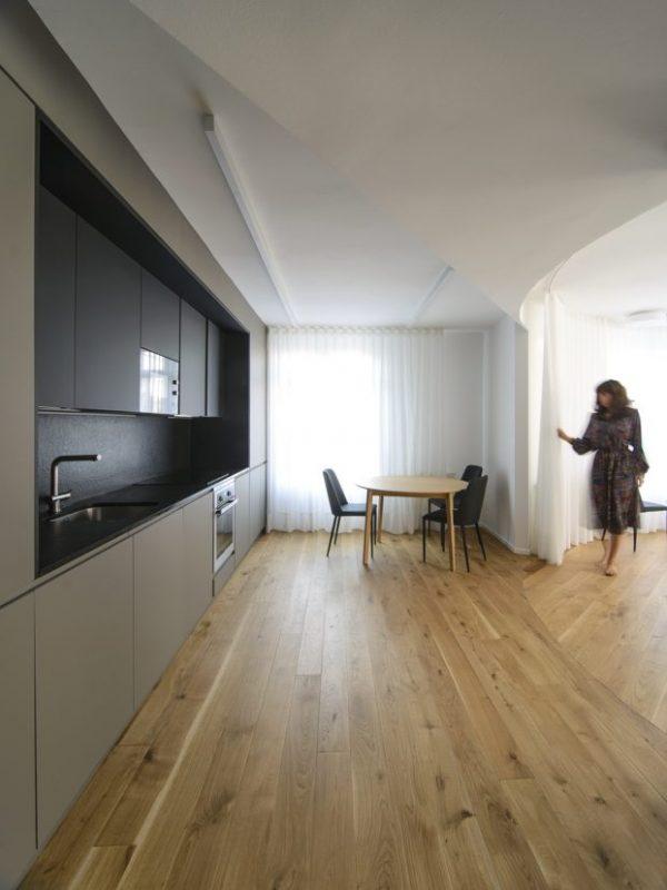 Un piso de madera