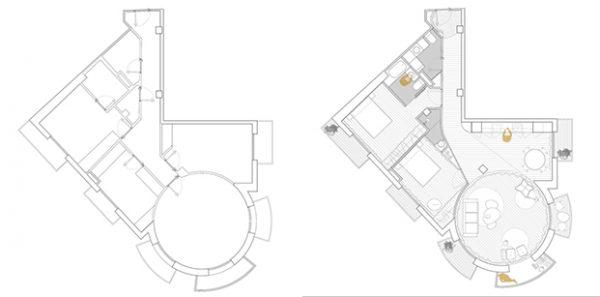 Moderno diseño de los planos