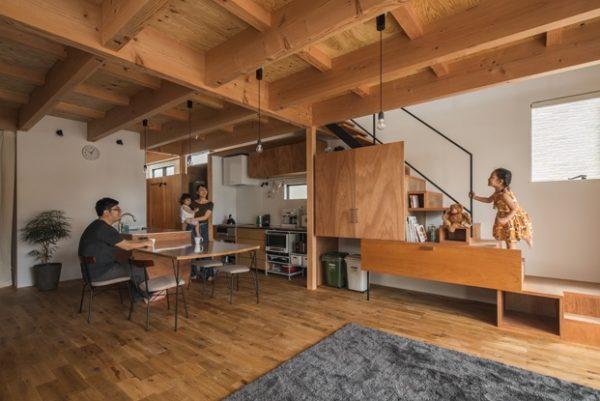 Moderno lugar de madera
