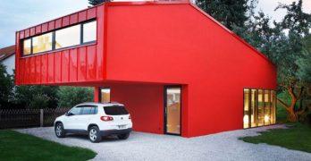 """House """"V"""" pequeña casa con diseño simple y elegante en Alemania"""