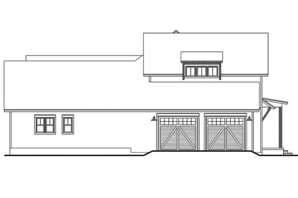 Diseño trasero de la casa a lápiz