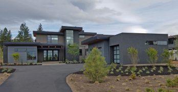 Planos de casa moderna con estilos y acabados de lujo de 345 m2
