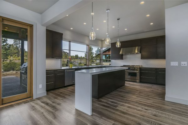 Moderna iluminación en la cocina