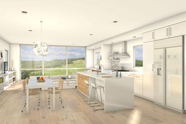 Diseño amplio y abierto para la cocina
