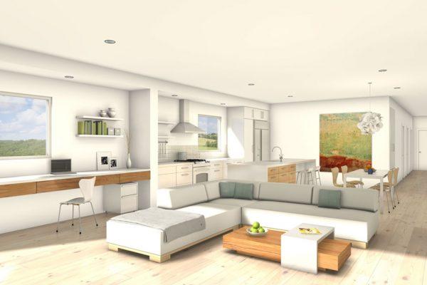 Diseño de sala perfecto y moderno