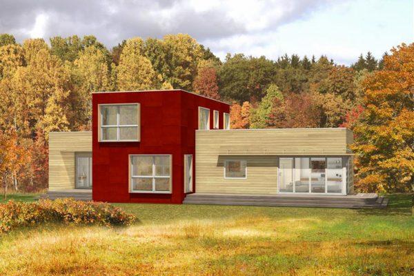 Diseño de la casa amplia de dos plantas